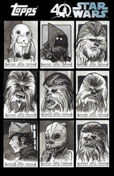 Topps Star Wars 40th Anniversary Sketchcards