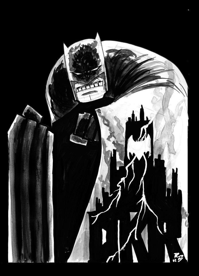 Dark Knight Returns Draw Athon Sketch by RADMANRB