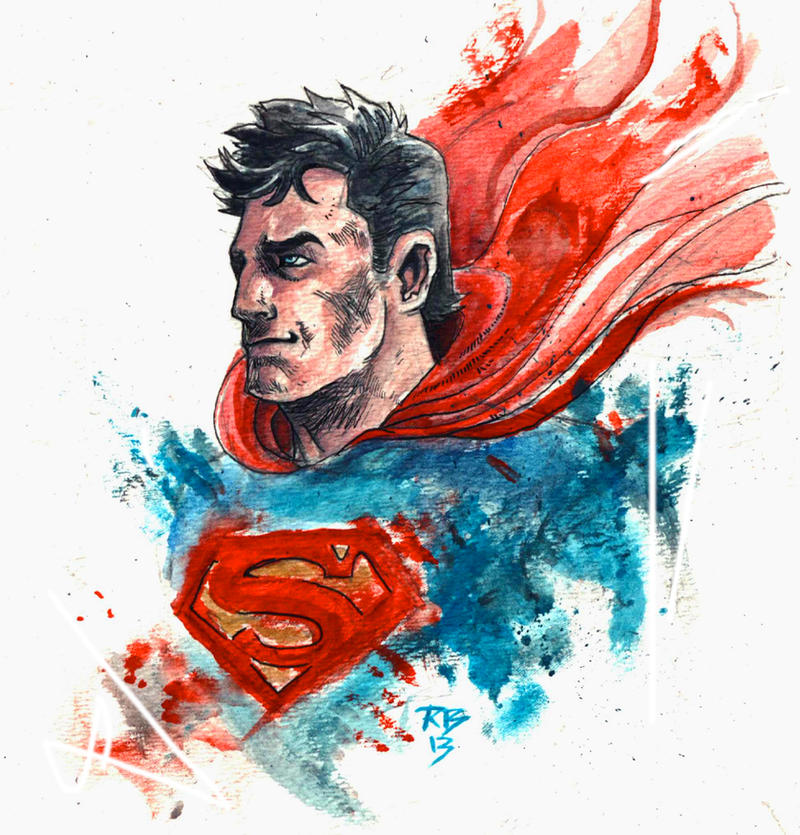 superman water color thing by radmanrb - Superman Pictures To Colour
