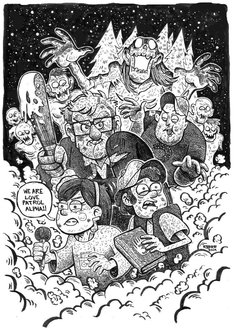 Gravity Falls Inks by RADMANRB