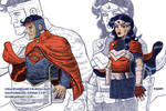 Superman and Wonder Woman redesigns