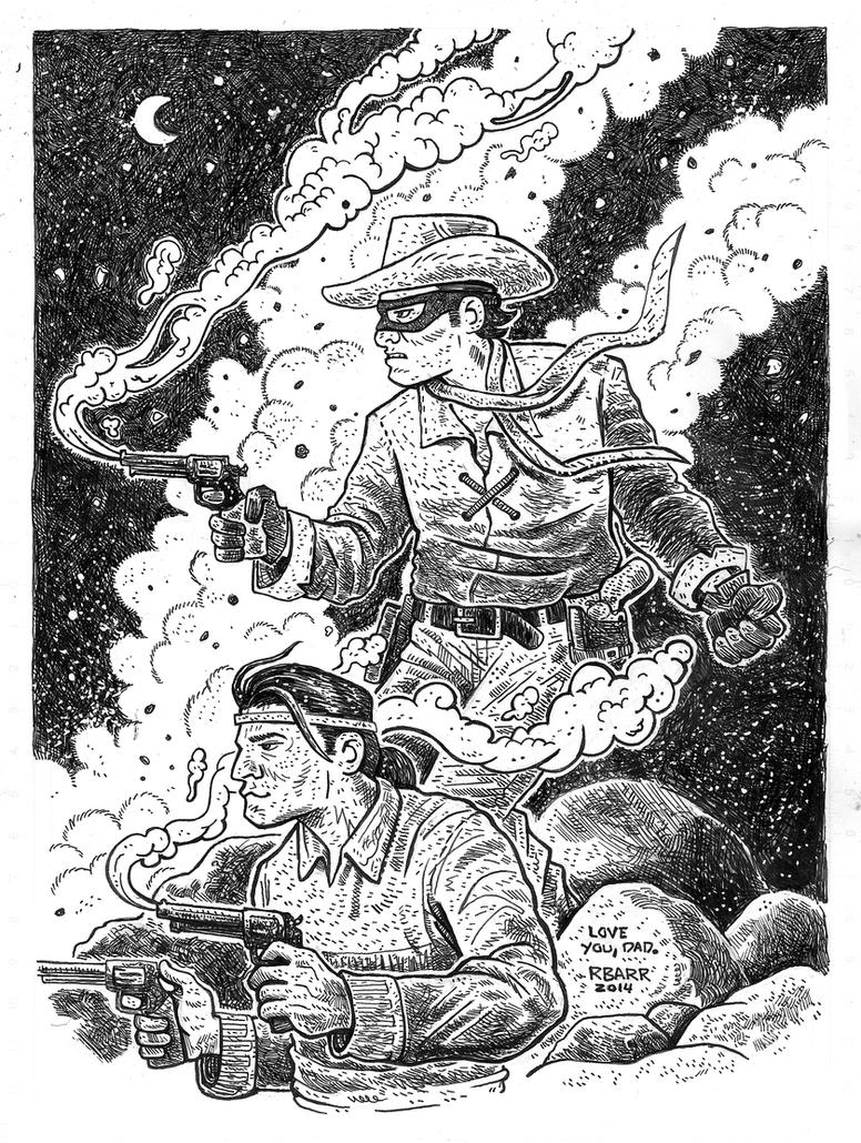 Lone Ranger and Tonto by RADMANRB