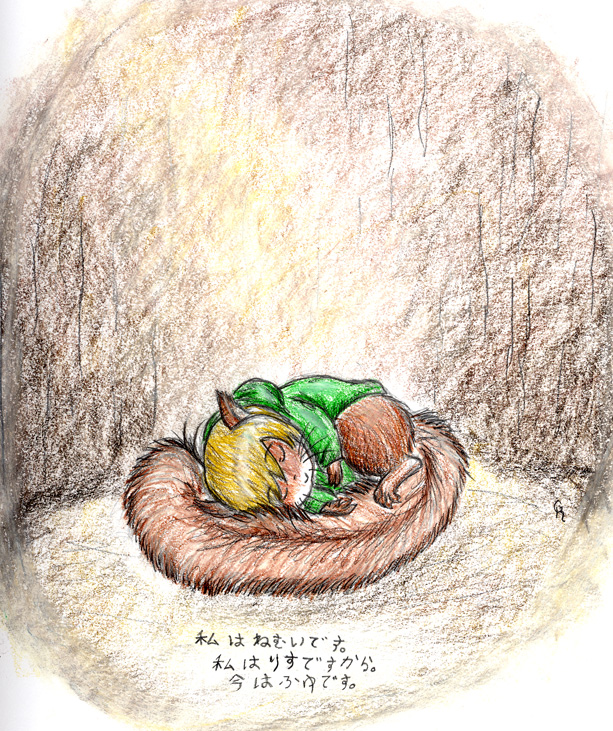 let hibernating squirrels lie by porcubird on deviantart