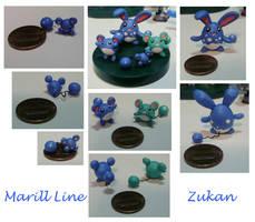 Marill Line Zukan by Porcubird