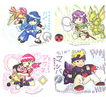 Johto Gym Leaders pt.1 by Porcubird