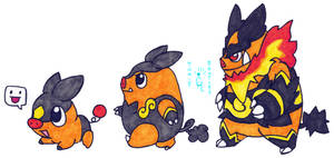 Walky Tepig Line