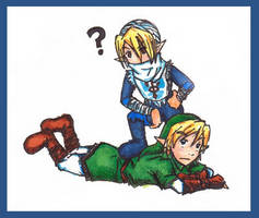 Sheik and Link Chibis by Link-fizzle