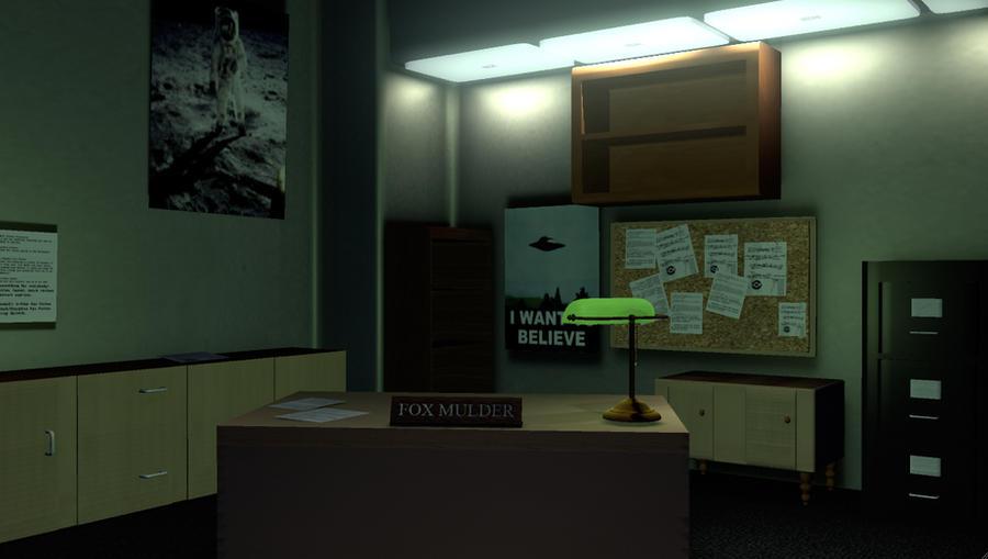 Fox Mulder's Office Done by FluffyPocket on DeviantArt