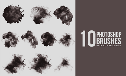 10 Watercolor - Grunge photoshop brushes by SoDamnReckless
