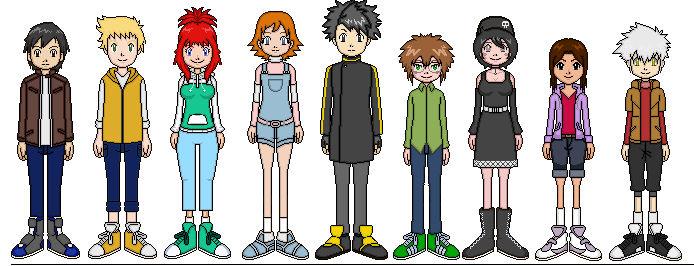 Digimon E.V.O. Main Characters