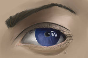 Blue Eye (Speedpaint) by AutoConBuddy