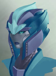 TF OC: Vision (painting WIP) by AutoConBuddy