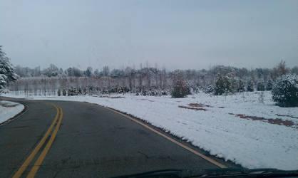 Snowy road 1 by Kiba-rules