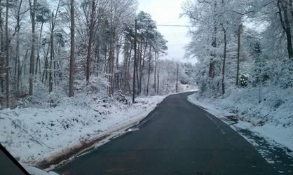 snowy road 3 by Kiba-rules
