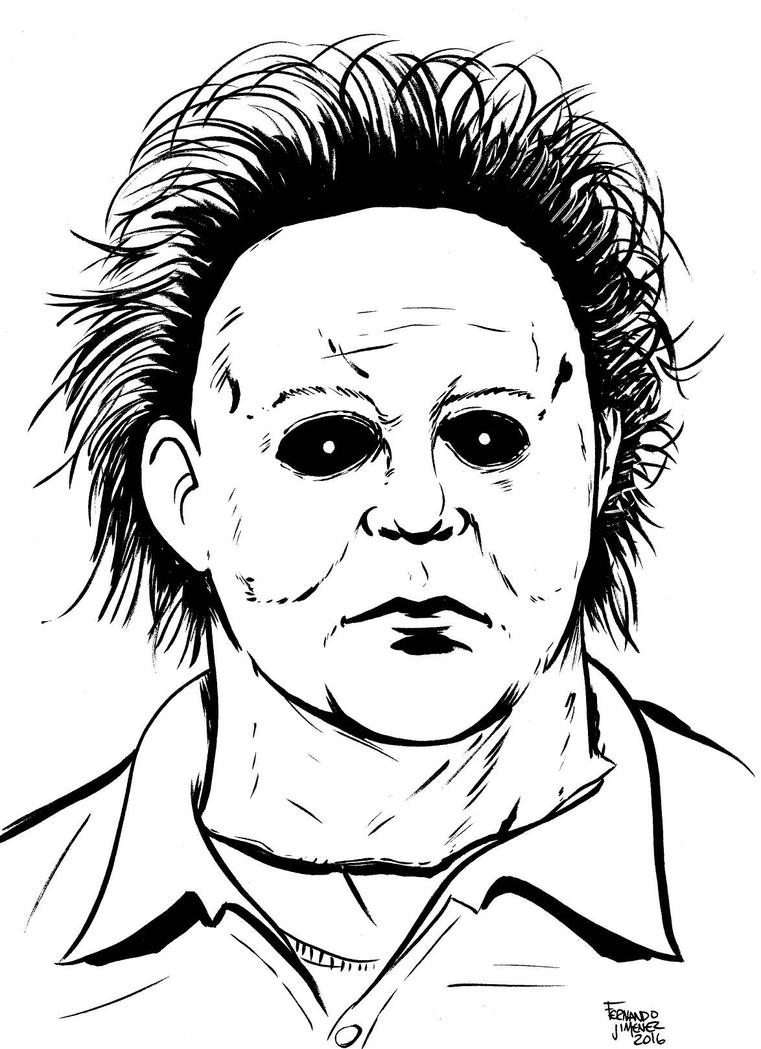Michael myers sketch by jay3502 on deviantart for Michael myers coloring pages