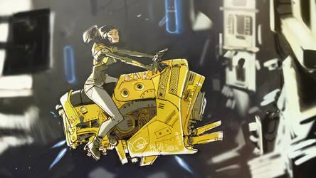 Motogirl by johnlaine