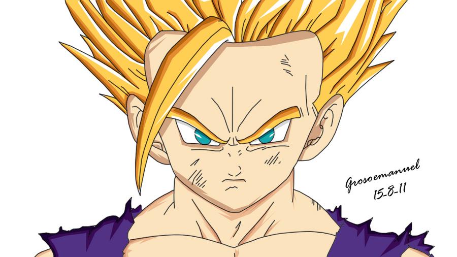 Dibujos Para Colorear De Dragon Ball Z Gohan Ssj2 Ideas: Como Dibujar A Gohan Ssj4
