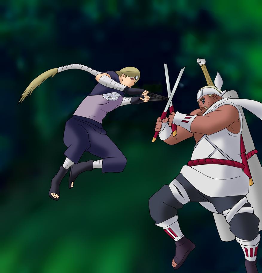 Yugito vs Bee by Grosoemanuel on deviantART