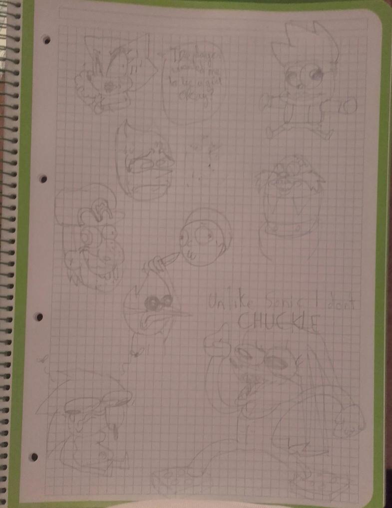 sketches by Abraham-el-erizo
