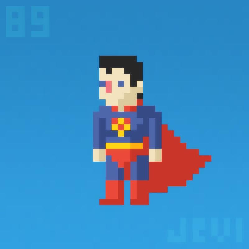 Daily Pixel Art 089 Superman By Jevi93 On Deviantart