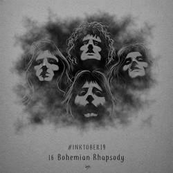 Inktober19 Day 16 - Bohemian Rhapsody