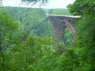 New River Gorge Bridge - Upper Deck by CrownDigitalArt