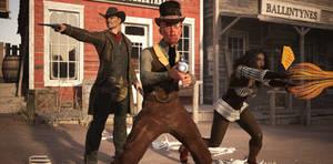 Deadlands - Retaking Virginia City by CrownDigitalArt