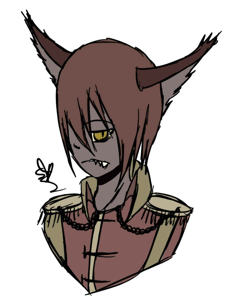 [Gacha Bonus] Wolfman Bust by OpalesquePrincess