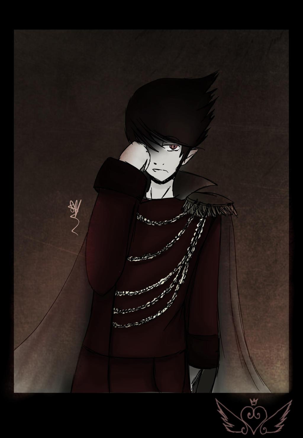 [Portrait] Vampiric Prince by OpalesquePrincess