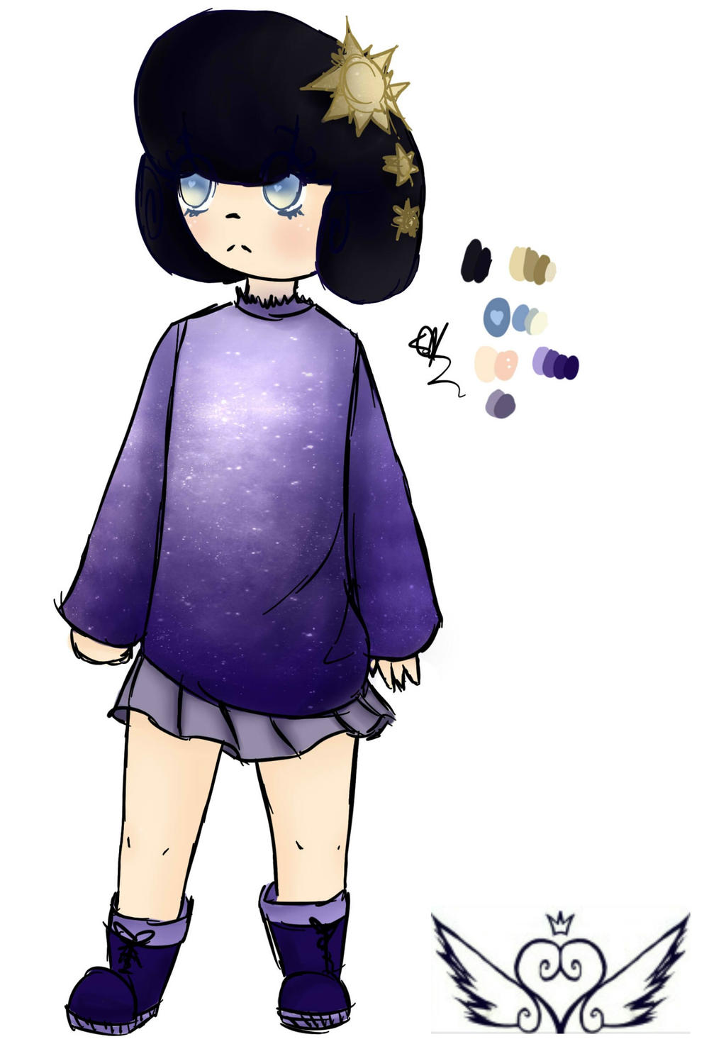 [Galaxies] Stardazed Girl by OpalesquePrincess