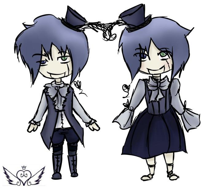 [MidnightFever] Twin Dolls by OpalesquePrincess