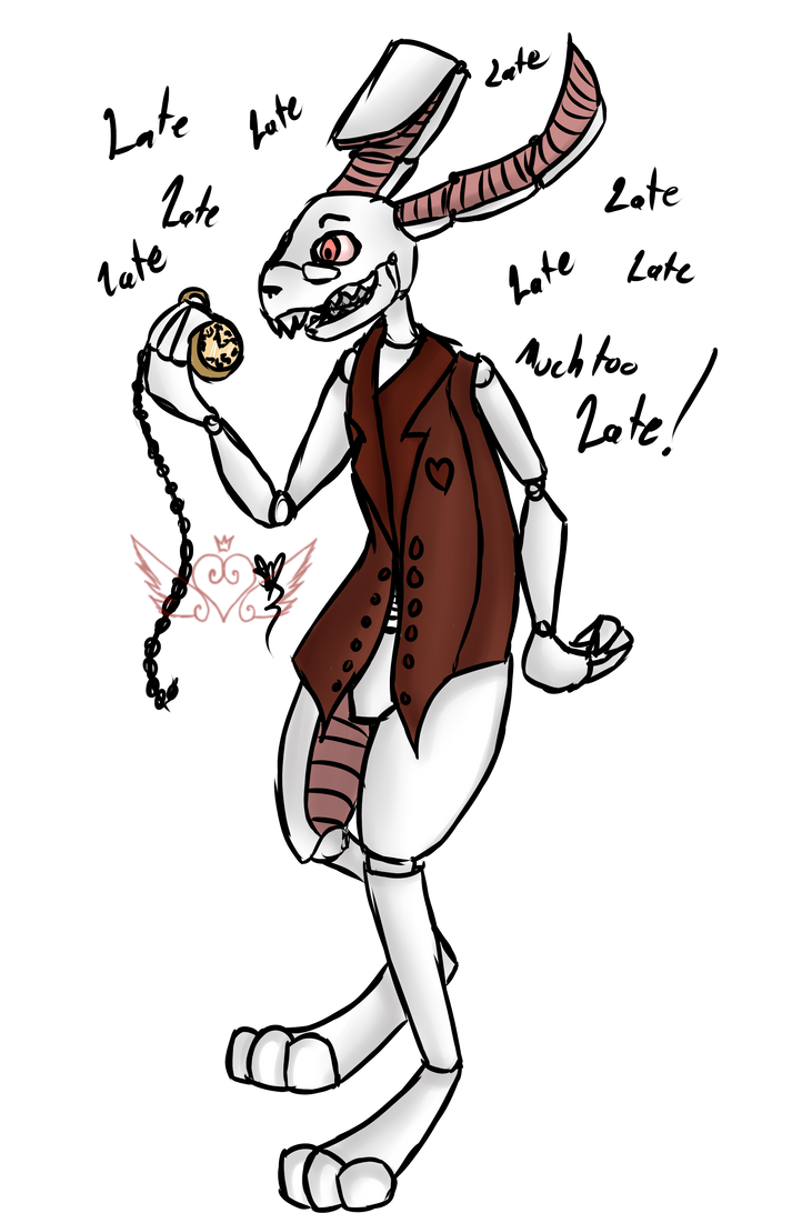 [Fnaf Custom] White Rabbit by OpalesquePrincess