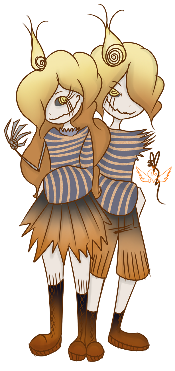 [Dollhouse] Halloween Twins by OpalesquePrincess