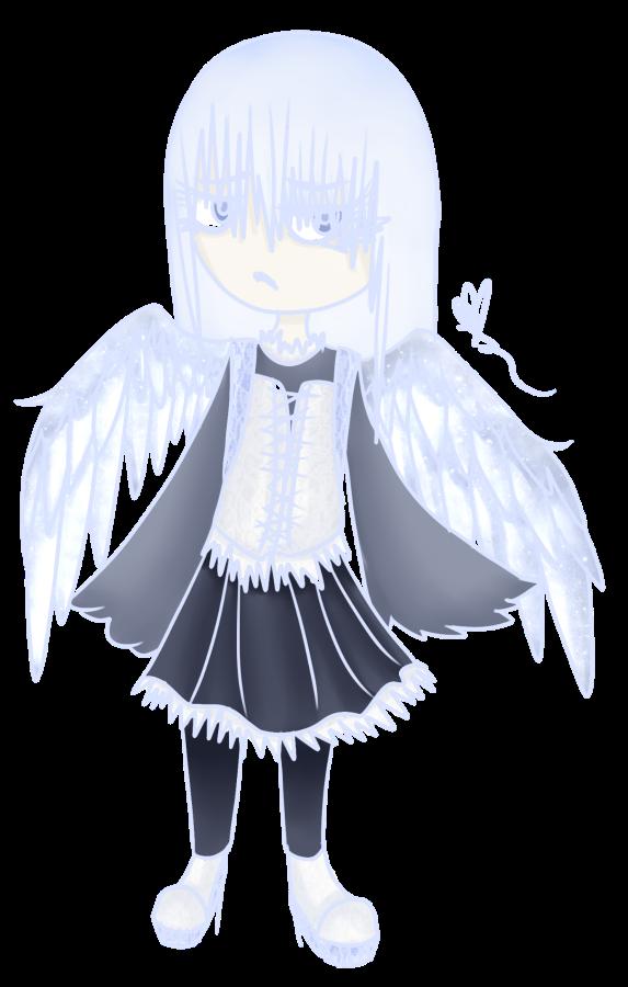[Graveyard Cuties] White Raven by OpalesquePrincess