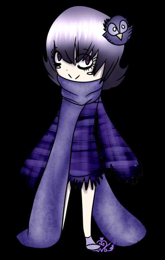 [Graveyard Cuties] Purple Owls by OpalesquePrincess