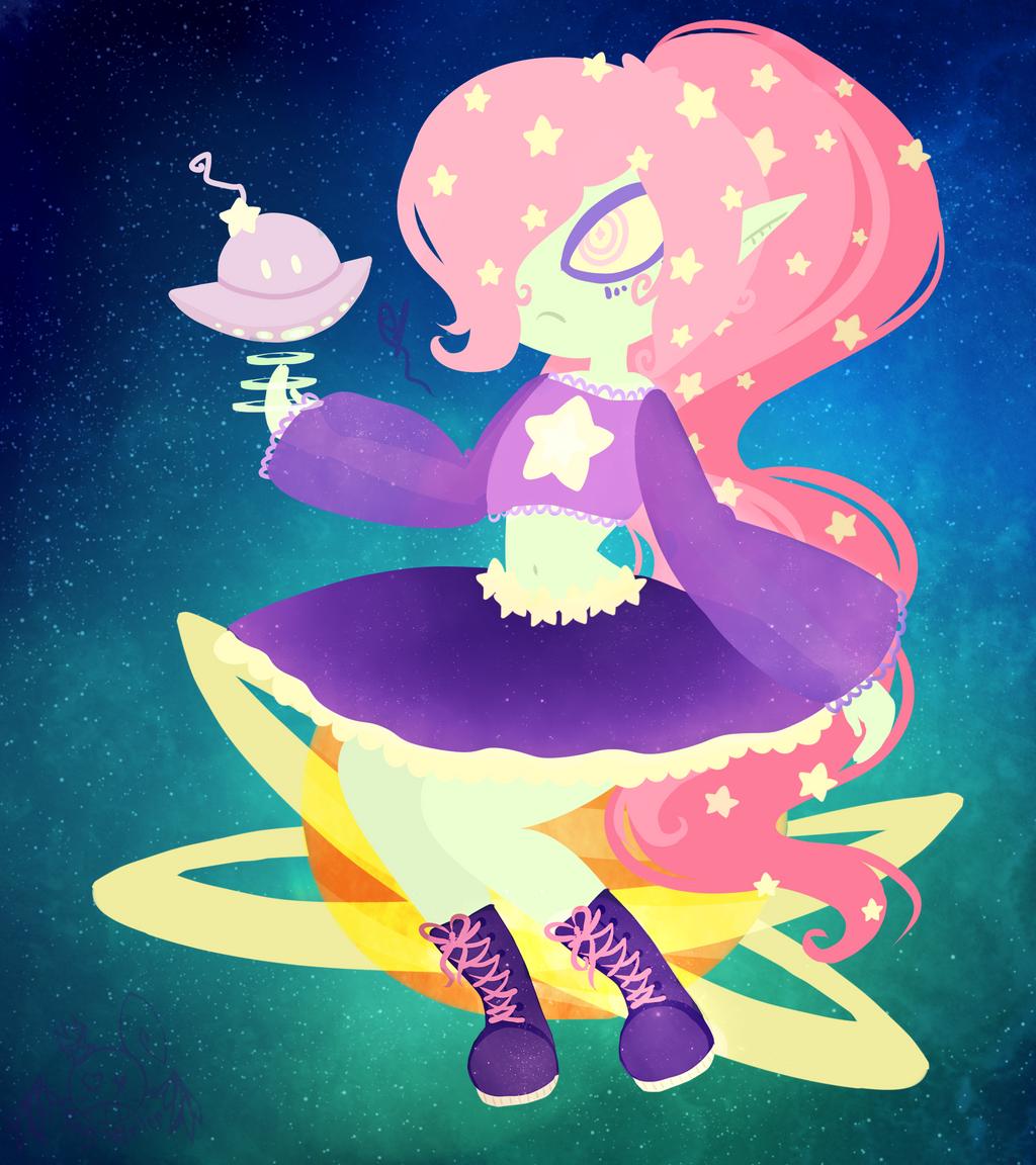 Galaxy Queenie by OpalesquePrincess