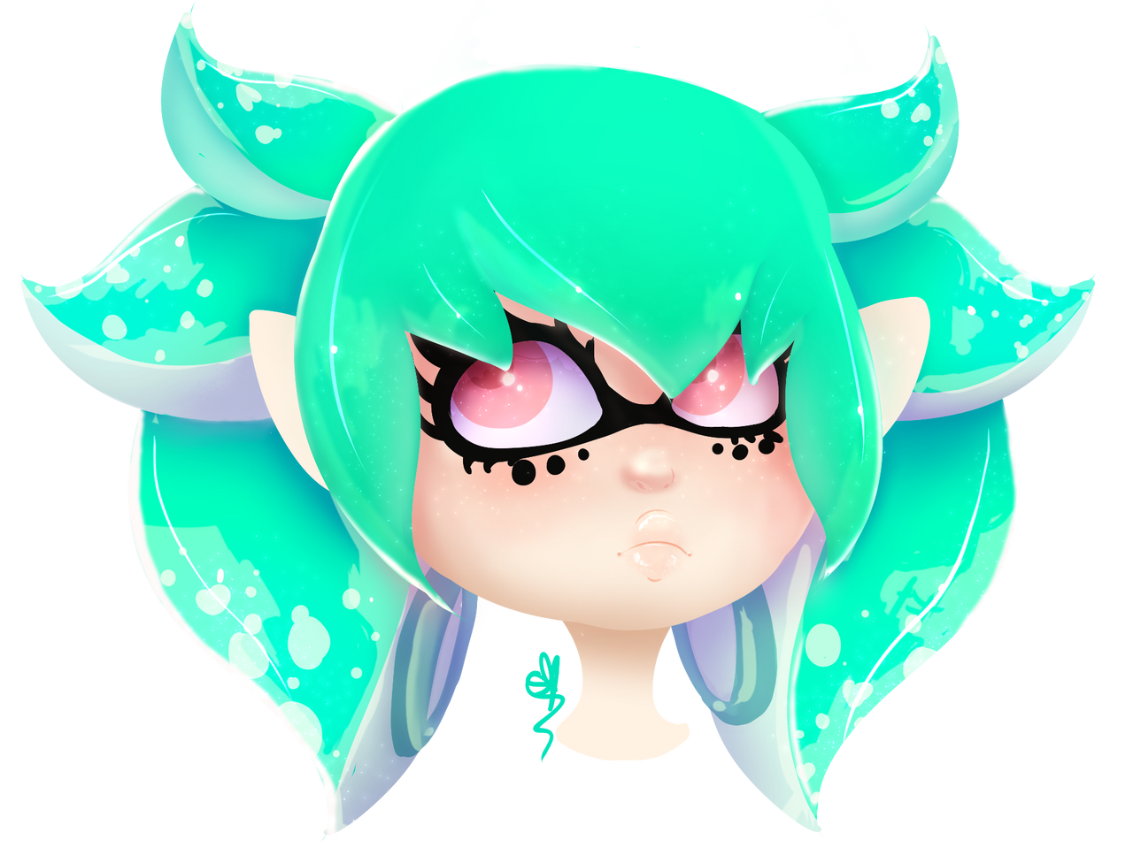 .:: Aqua Squid ::. + Speedpaint by OpalesquePrincess