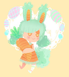 .: Mint Bunny :. by OpalesquePrincess