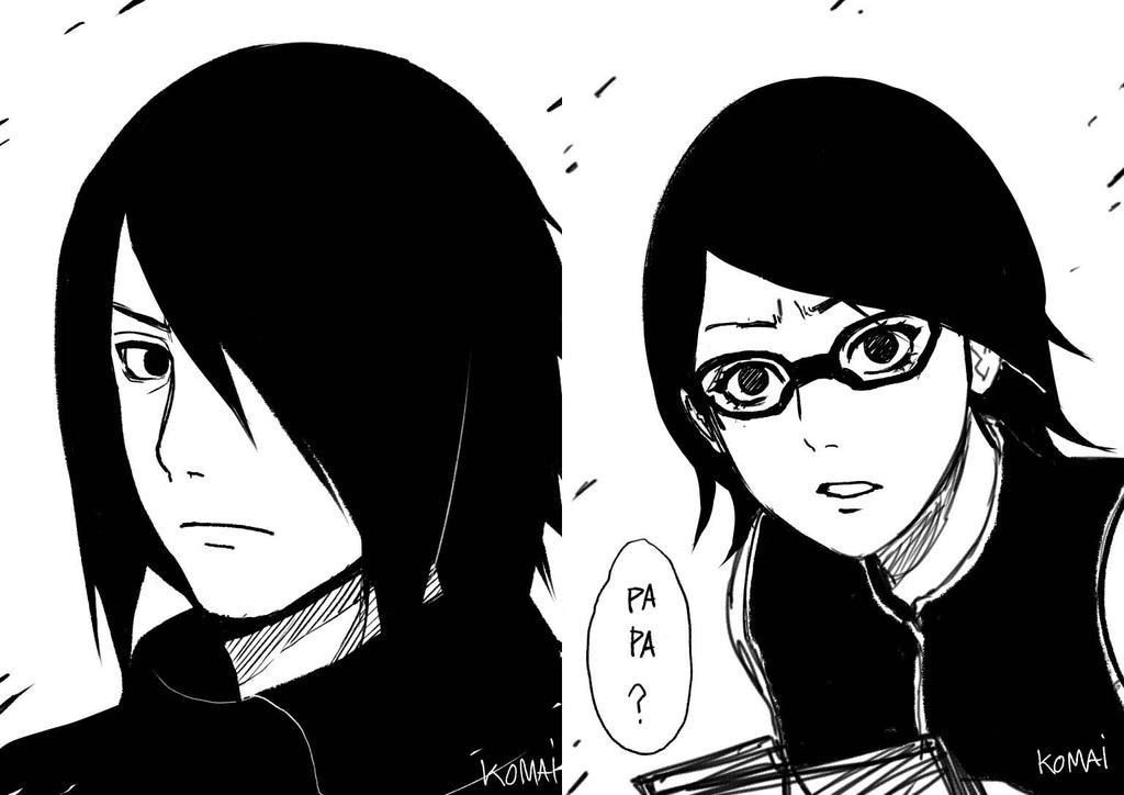 sasuke sarada by Komai69i