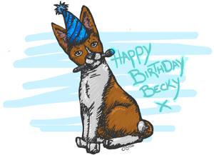 Basenji Birthday picture