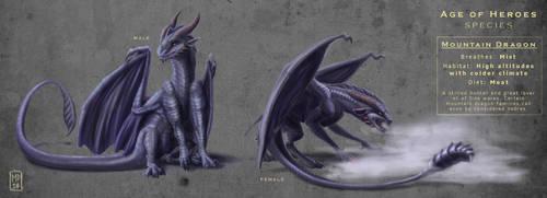 AoH Species: Mountain Dragon by vonPipkin