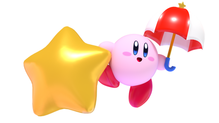 Parasol Kirby Render (Kirby Blender Rig V4) by TheGoldenMCL