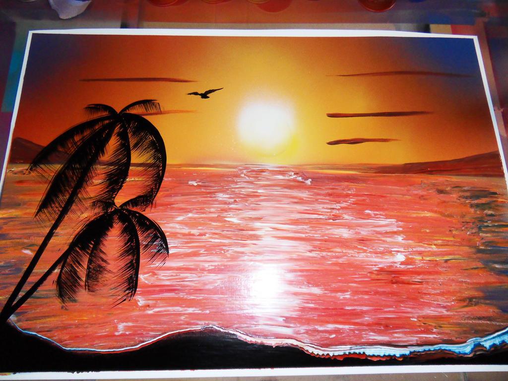 sunset spray paint by nousernameavailabl on deviantart. Black Bedroom Furniture Sets. Home Design Ideas