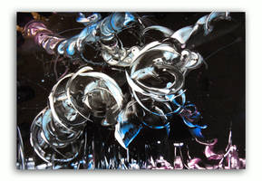 Spray painting Abstract - Ufo attack by Airgone