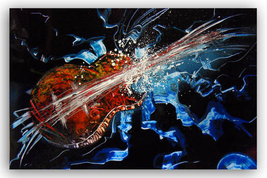 Spray painting Abstract - Improvisation !