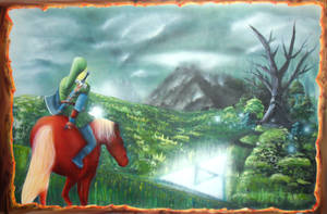 Zelda Airbrush Ocarina of time Big size by Airgone