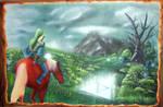 Zelda Airbrush Ocarina of time Big size