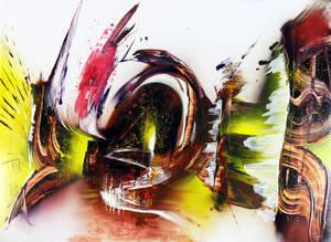 Spray paint on cardboard - Otherside