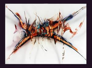 Spray paint abstract on cardboard - Distorsion
