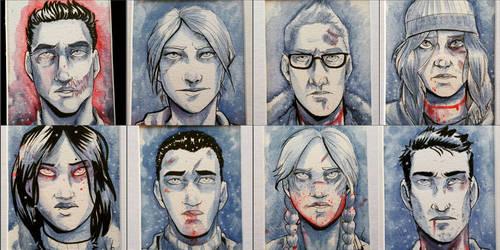 Until Dawn Watercolor Portraits